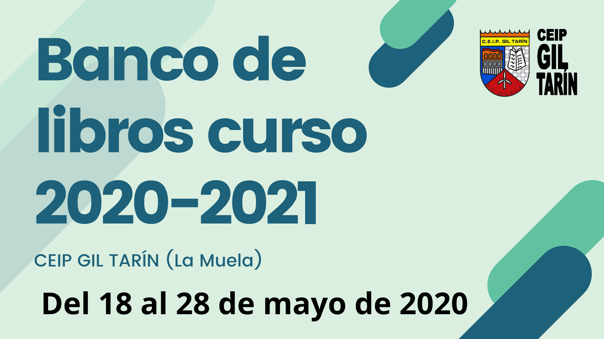 Banco de libros CEIP Gil Tarín 2020-2021